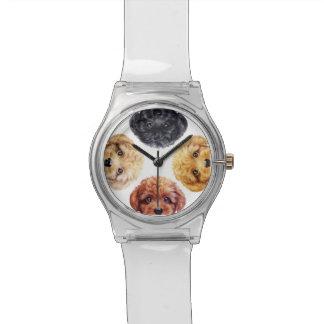 Ursprüngliche Entwurfsuhr des Zwergpudels Armbanduhr