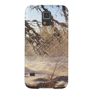 Ursprünglicher Kiefer-Waldwinter-Wald Samsung Galaxy S5 Cover