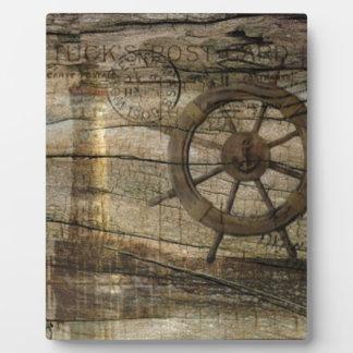 Ursprünglicher Küstenseehelm-Radleuchtturm Fotoplatte