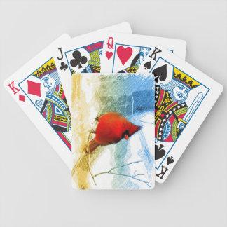 Ursprünglicher Westernlandweihnachtsrot-Kardinal Bicycle Spielkarten
