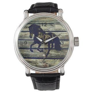 Ursprüngliches BarnWood schwarzes Armbanduhr