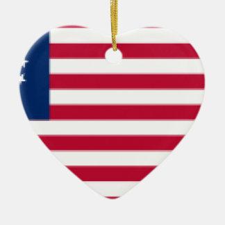 US_flag_13_stars_-_Betsy_Ross Keramik Ornament