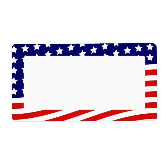 US Flagge-amerikanische Flagge am 4. Juli Versandetiketten