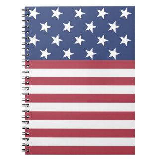 US Flagge-Entwurfs-Notizbuch Spiral Notizbuch