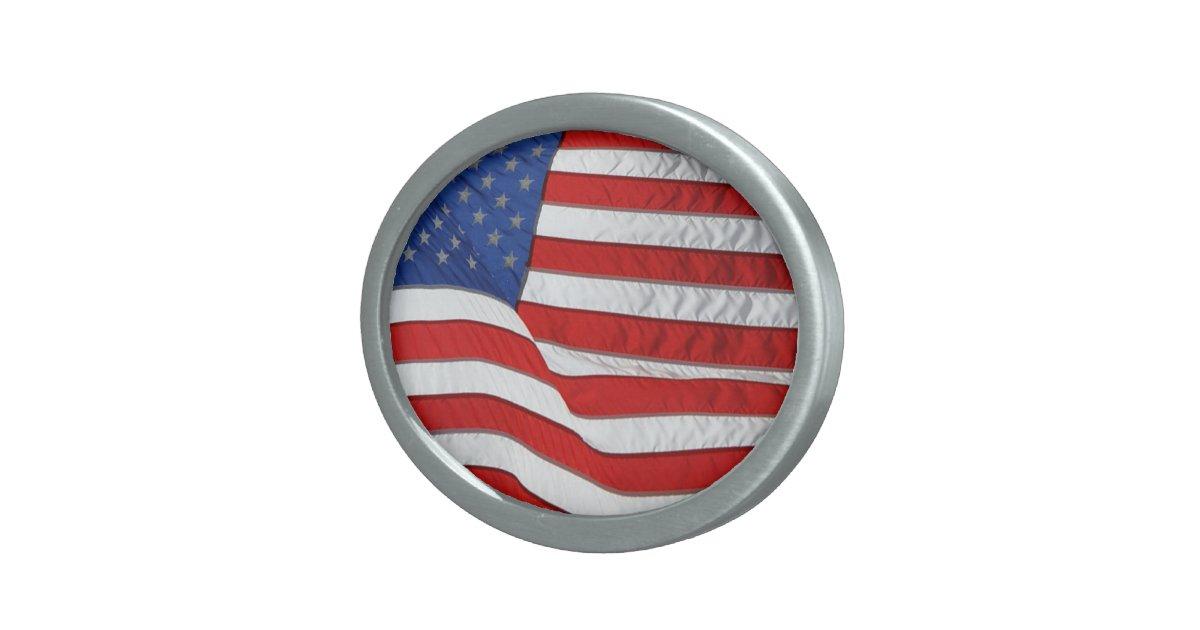 US-Flagge für amerikanische Patrioten Ovale Gürtelschnallen   Zazzle