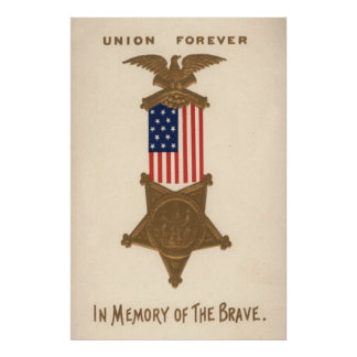 US-Flaggen-Gewerkschafts-ziviler Poster