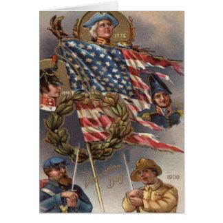 US-Flaggen-Kranz-Militär-Volkstrauertag Karte