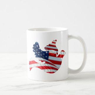 US-Flaggen-Taube Tasse