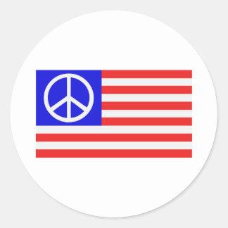 US-Flaggenfrieden Stickers