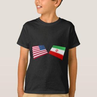 US- u. Iran-Flaggen T-Shirt