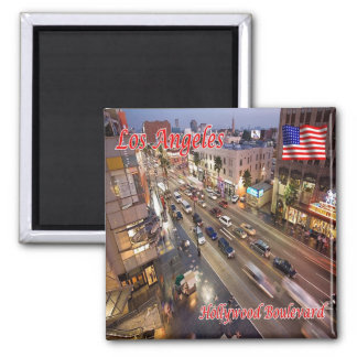 US USA Los Angeles Hollywood Boulevard Quadratischer Magnet