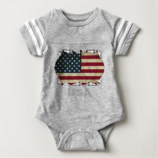 USA-amerikanische Flagge Babybody