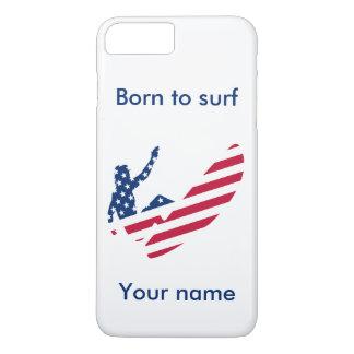 USA, die amerikanischen Surfer surfen iPhone 8 Plus/7 Plus Hülle