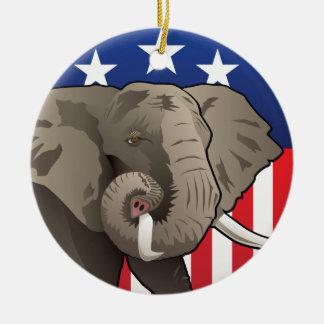 USA-Elefant Keramik Ornament