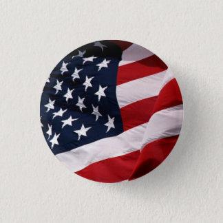 USA fahnenschwenkend Runder Button 3,2 Cm