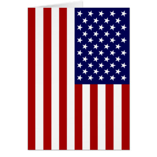USA-Flagge Grußkarte