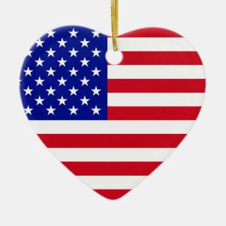 USA-Flagge Keramik Ornament