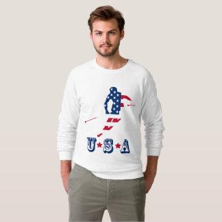 USA-Flagge Ski fahrenden Amerikaners Amerikas Sweatshirt