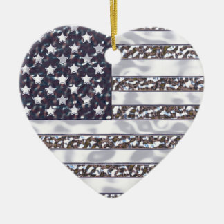 USA-Flaggen-Chrom-Weihnachtsverzierung Keramik Ornament