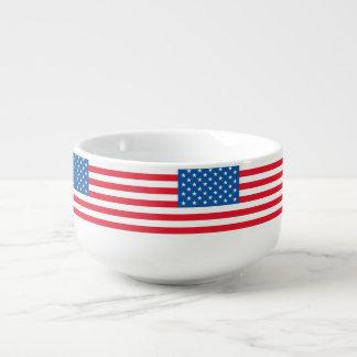 USA-Flaggen-US Flagge Große Suppentasse