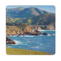 USA, Kalifornien. Panorama von großem Sur mit Puzzle Untersetzer