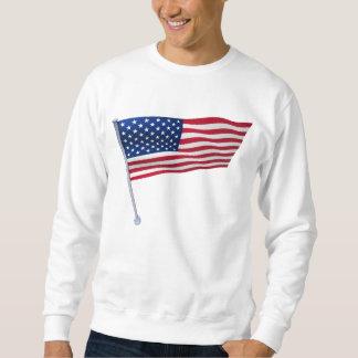 USA kennzeichnen auf einem Pfosten Sweatshirt