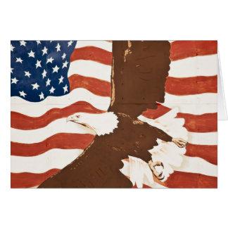 USA, Louisiana, Hafen Allen. Patriotisches Karte