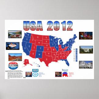 USA-Präsidentschaftswahl-Plakat 2012 Poster