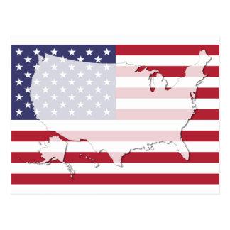 USA Vereinigte Staaten kennzeichnen Postkarte