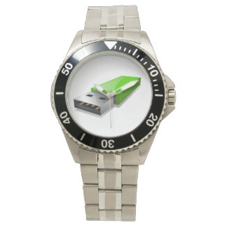 USb-Blitz-Antriebs-Uhr Armbanduhr