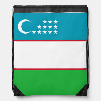 Usbekistan-Flagge Turnbeutel