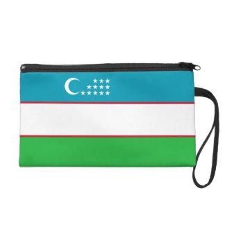 Usbekistan-Flagge Wristlet Handtasche