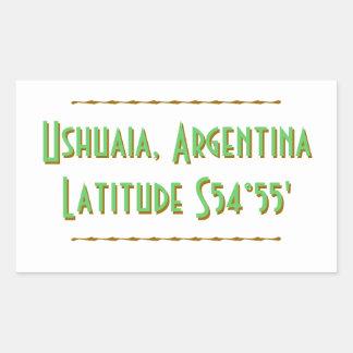 Ushuaia Argentinien Breite Rechteckiger Aufkleber