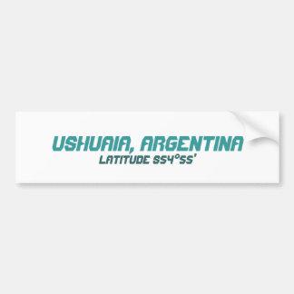 Ushuaia, Argentinien. Finisterre. Das Ende der Wel Autoaufkleber