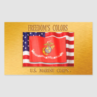 USMC StickerUSMC, US-Marineinfanteriekorps, Rechteckiger Aufkleber