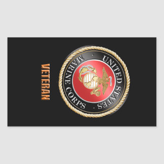 Usmc-Veteranen-Aufkleber Rechteckiger Aufkleber