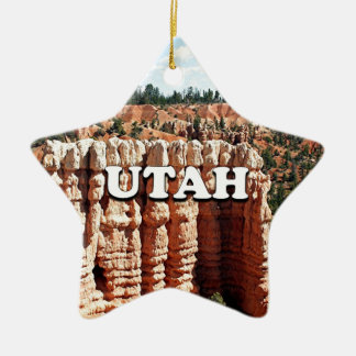 Utah: Bryce Schlucht-Nationalpark Keramik Stern-Ornament