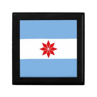 Uturuncos Flagge Kleine Quadratische Schatulle