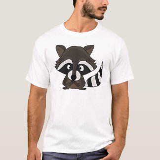 UU-, lustige Raccoon-Cartoon-Kunst T-Shirt
