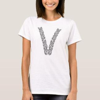 V für veganes T-Shirt