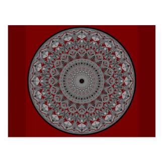 Valentina-Mandala-Entwurf Postkarte
