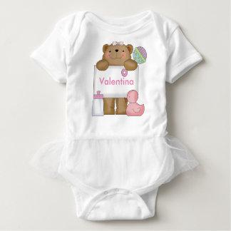 Valentina personalisierter Bär Baby Strampler