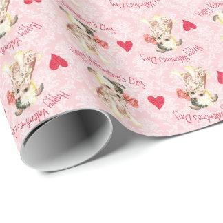 Valentine-Rosen-Chinese Crested Geschenkpapier