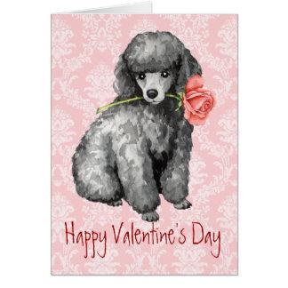 Valentine-Rosen-Miniaturpudel Karte