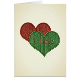 Valentine-Tapisserie-Herzen, zum von i-Liebe zu Karte