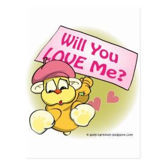 Valentine, wird Sie Liebe ich? Postkarte