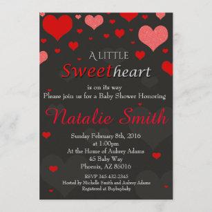 Valentinsgruß-Babyparty-Einladung, Schatz Einladung