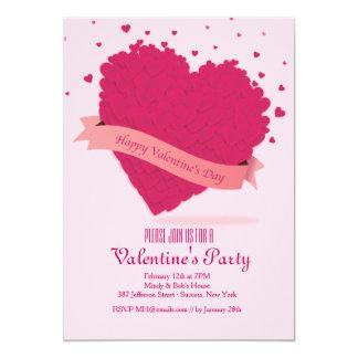 Valentinsgruß besprüht Einladung 12,7 X 17,8 Cm Einladungskarte