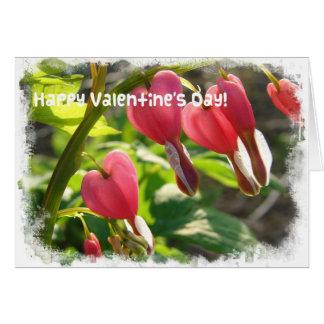 Valentinsgruß-blutende Herzen Karte