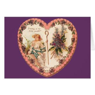 Valentinsgruß-Fliedern Karte